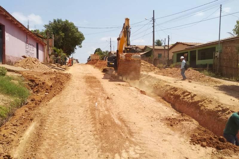 Sedop realiza obras de pavimentação em 12 municípios