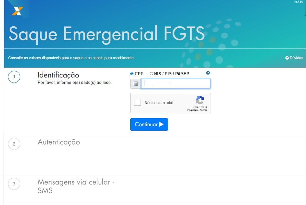 Consulta do valo e data do saque do FGTS pode ser feita por meio do site fgts.caixa.gov.br ou por meio do Disque 111. — Foto: Reprodução