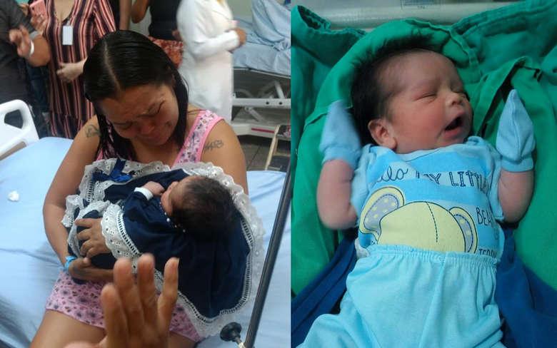 Bebê sequestrado da Santa Casa passa bem e família espera alta médica para ir para casa