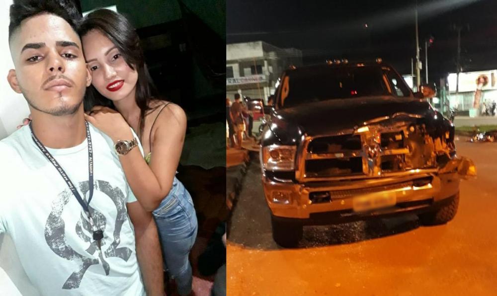 Acidente entre uma moto e um carro deixa duas vítimas fatais em Altamira.
