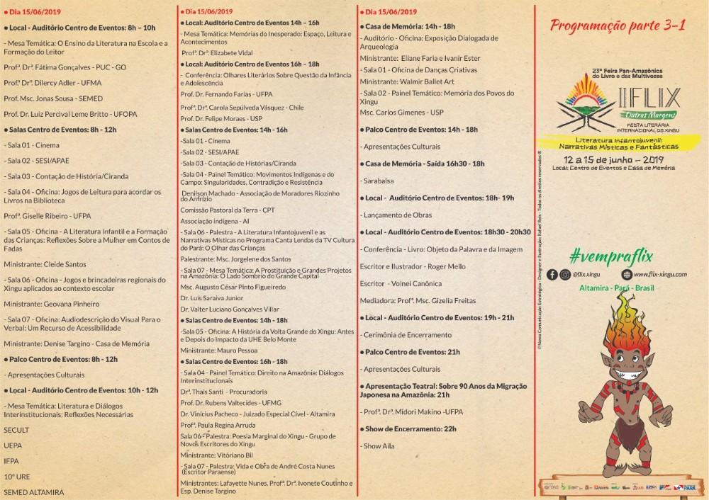 Começa 2ª Edição da Festa Literária Internacional do Xingu