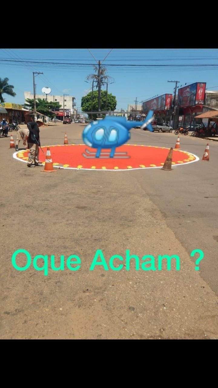 Sinalização causa discussão e memes em Altamira