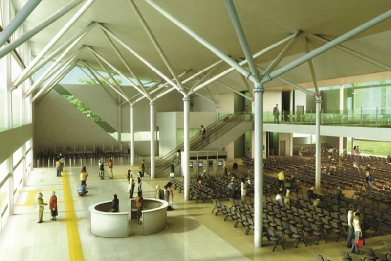 Espaço, que será o mais moderno do Brasil, está com 41% das obras concluídas e já tem o aval para funcionar/ Arte CPH